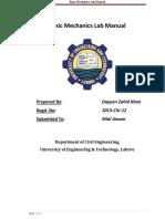 Basic Mechanics Lab Manual
