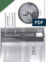 Dewey Democracia y Educación Cap. VIII y IX.