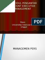 Account Executive Management