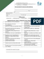 Evaluación Diagnóstica Educación Especial Problemas de Lenguaje