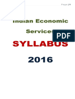 Indian Economic Services Syllabus