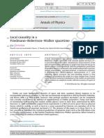 Local causality in a Friedmann–Robertson–Walker spacetime