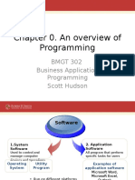 Overview of Programming