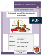 Análisis de La Normatividad Sistematica Del Orden Juridico