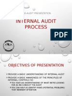 i a Awareness Presentation Internal Audit Processes