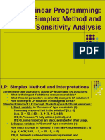 Simplex Method and Sensitivity Analysis2012