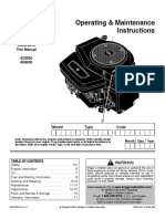 Owners Manual 21 HP Briggs twin