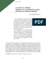 D. Lepoutre, Action ou vérité