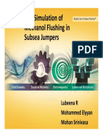 CFD Simulation of Methanol Flushing in Subsea Jumpers - Comprehensive Solution Presentation
