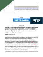 J.-M. Leclerc & F. Lemoine, Face à une criminalité toujours plus jeune et plus violente, les policiers et les gendarmes baissent de régime (2002)