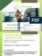Programación avanzada para web- criterios de entrada
