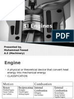 SI Engines & Its Maintenance