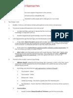 Unit I & II- Outlines AP Psychology