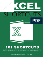 Excel Shortcuts 101 Shortcuts Excel Formulas, Shortcuts & Spreadsheets by Matthew Hollinder.pdf