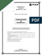 Examen Rezagado - Mat 125 - [0664, 0665] 11-07-2015 CORREGIDO