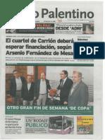 ÑAM Rueda de prensa. Diario Palentino. Portada