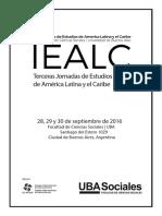 III Jornadas IEALC Programa