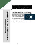 Self Assessment & Goal Setting
