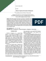 Health Human Capital and Economic Development