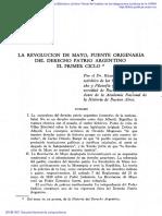 Ricardo Levene- Revolución de Mayo