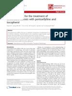 Tratamiento de Osteonecrosis Con Pentoxifilina 2014