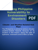 Mapping Philippine Vulnerability to Environmental Disasters