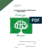 Proyecto Educativo Aliwen- Currículum Finalizados Pero Sin Conclu