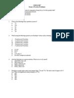 PracticeProblems Exam 1
