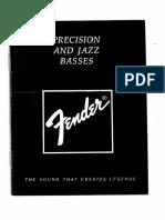 Standard Precision Bass (Japan1987) Manual