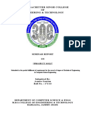 project soli seminar report docx | Radar | Electronics