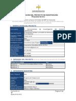 Formato Presentacion de Propuesta Investigación