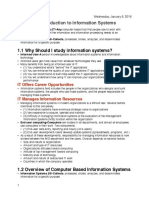 Chapter 1- Introduction to Information Systems