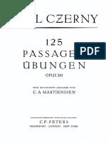 -Czerny Carl-125 Passagenuebungen Op 261