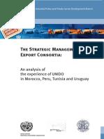 Strategic Management Export Consortia