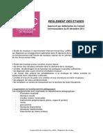 Conservatoire Règlement Des Études