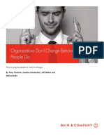 BAIN Brief_Organizations Don't Change Behavior - People Do !!!