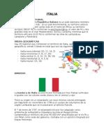 Resumen de cultura Italina