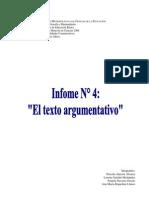 Informe 4 Texto Argumentativo