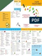 Le Guide Des Bons Aliments Pour Lutter Contre Le Cholesterol Brochure