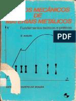 Souza, Ensaios Mecanicos de Materiais Metalicos - Fundamentos