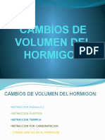 Cambios de Volumen en El Hormigon