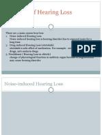 Etiologi of Hearing Loss