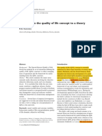 Calidad de Vida de Concepto a Teoria