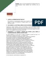 Cuestionario de procedimientos administrativo Sp