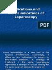 Indications and contraindications of Laparoscopy1