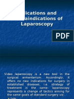 Indications and contraindications of Laparoscopy1