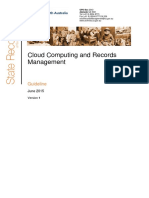 Gov of South Australia 2015 _ Cloud Computing and Records Management Guideline