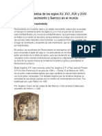 Producción Plástica de Los Siglos XV