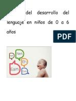Etapas Del Desarrollo Del Lenguaje en Niños de 0 a 6 Años