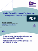 Model Based Systems Engineering Enterprise Architecture Frameworks